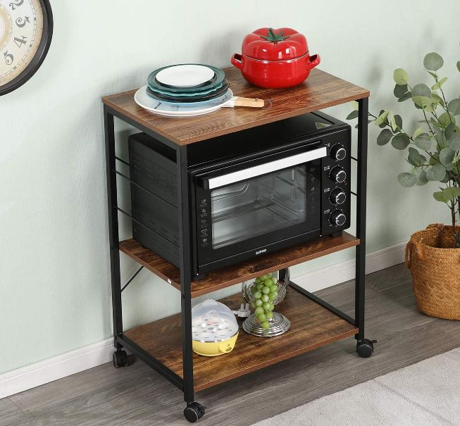 Microwave Cart With Storage